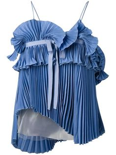 Rochas pleated top at $718. Shop Rochas pleated top with quick international delivery, new arrivals