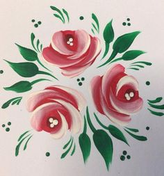 Folk Embroidery Ideas Learn it, love it, Folk It! Folk Art Flowers, Flower Art, Canal Boat Art, Fabric Painting, Painting Tips, Watercolor Painting, Tole Painting Patterns, Folk Embroidery, Embroidery Ideas