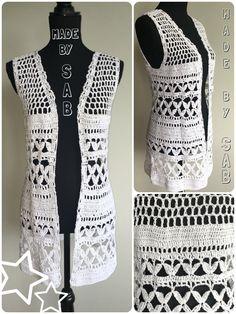 Summer Bliss Vest - wit Patroon: www.garnstudio.nl Garen: Lammy Rio Haken - Crochet - Summer