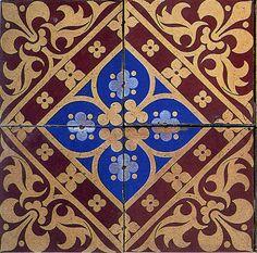 Augustus Welby Northmore Pugin. Ceramic tile design, 1850.