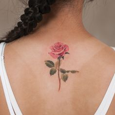 Popular Ideas For Pink Rose Tattoo Ankle Mini Tattoos, Rosa Tattoos, Body Art Tattoos, Small Tattoos, Rose Tattoos For Women, Blue Rose Tattoos, Back Tattoo Women, Floral Tattoo Design, Tattoo Designs