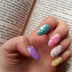 Colorful nails, Dark shades nails, Evening nails, Everyday nails, Marble nails, Modern nails, Nails trends 2016, Shades of blue nails