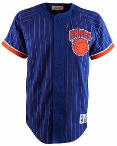 4a2c2c6f8 NBA Basketball Mitchell and Ness New York Knicks Button Up Baseball Jersey  BNWT