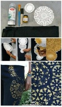 I don't particularly care for the gold on denim, but I can think of some other uses!