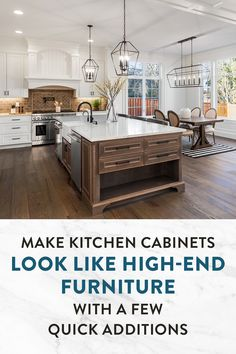 Making Kitchen Cabinets Look Like Furniture, Stock Kitchen Cabinets, Kitchen Cabinet Styles, Cabinet Furniture, Solid Wood, Kitchen Design, Easy Diy, Wall Entertainment Center, Design Of Kitchen