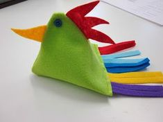 Diy And Crafts, Arts And Crafts, Textile Fabrics, Plushies, Handicraft, Elementary Schools, Fabric Crafts, Rooster, Dinosaur Stuffed Animal