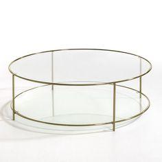 Table basse ronde verre trempé, Sybil AM.PM : prix, avis & notation, livraison.  La table basse ronde, double plateau en verre trempé Sybil. L'élégante transparence de son double plateau en verre trempé conviendra à tout style d'intérieur, moderne ou plus classique.Caractéristiques :- Structure métal, effet laiton vieilli.- Plateaux en verre trempé, épaisseur 8 mmDimensions : - Ø100 x H33 cm.Dimensions et poids des colis :- Colis 1 :L108 x H40 x P108 cm, 16,34 kg - Colis 2 : L105,5 x H9 x…
