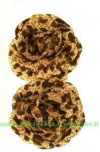 4,80€ Rosette on clip, brown leo
