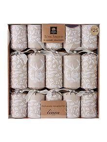 Handmade White Glitter Festive Pilier Bougies Set