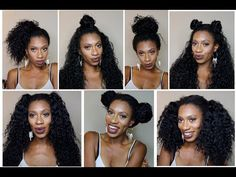 7 Styles - 1 wig: Outre Peruvian Bundle Half Wig REVIEW - YouTube