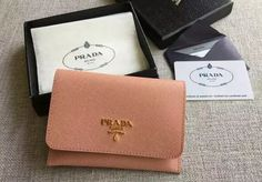S/S 2016 Prada Wallet Cheap Sale Online-Prada Cameo Saffiano Leather Credit Card Holder