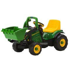 John Deere 6-Volt Power Loader Ride On Toy TBEK46287