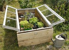 simple cold frame for raised garden bed