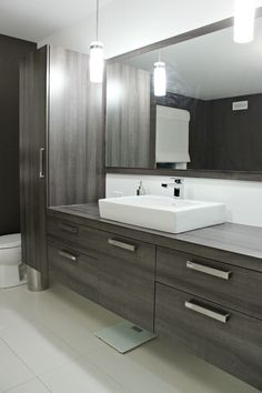 44 Unique Sink Concept That You Have to Try Large Bathrooms, Modern Bathroom, Small Bathroom, Master Bathroom, Bathroom Ideas, Armoire Design, Basement Bathroom, Bathroom Inspiration, Home Remodeling