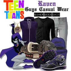 """""""Teen Titans - Raven"""" by gamer-geek-chic on Polyvore"""