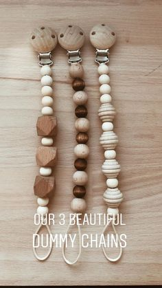 Dummy Clips, Sweet Peach, Teething Toys, Small Baby, Beading Projects, Craft Business, Diy Baby, Bead Crafts, Wooden Beads