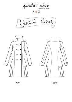 manteau femme long jusqu'au pied patron