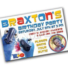 RIO Birthday Party Invitation by tiffbeard on Etsy, $12.00