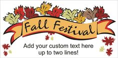 Fall Festival and Halloween Banners Welcome Home Banners, Graduation Banner, Halloween Banner, Custom Banners, Baby Shower, Templates, Fall, Babyshower, Autumn