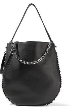 Alexander Wang - Roxy Studded Textured-leather Shoulder Bag - Black