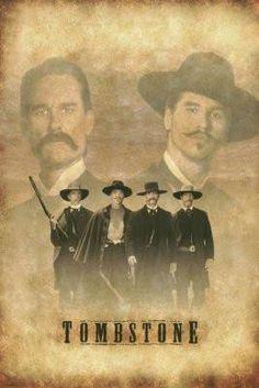 Tombstone - 4 Best Friends Ever: Wyatt Earp, Doc Holliday, Morgan Earp, Virgil Earp ❤❤❤ Tombstone Movie Quotes, Tombstone 1993, Tombstone Pictures, Tombstone Arizona, Western Film, Western Movies, Doc Holliday Tombstone, Westerns, Im Your Huckleberry