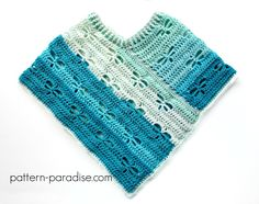 Free Crochet Pattern Dragonfly Poncho Child to Adult by Pattern-Paradise.com