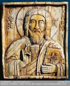 Coptic, 6th century. Ivory ~ Aryan symbols, customs, and traditions have infiltrated practically every State established / recognized religion.