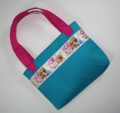 Toddler Mini Tote Bag Made With Winnie the Pooh Ribbon