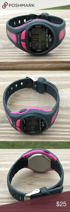SPEEDO Women Watch MULTIFUNCTION QUARTZ Wrist Watc SPEEDO Womens Watch MULTIFUNCTION QUARTZ Wrist Watch 5 ATM Dual Time Dual Alarm  Brand:  Color: Black + Pink  Size: Belt ( adjustable )  Stainless Steel back  Water Resistant 5 ATM ( 50M )  Pre-owned: used and in good condition.  Fully Functional. Speedo Accessories Watches