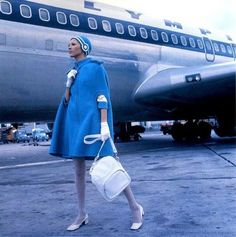 Olympic Airlines Stewardess Uniform by Pierre Cardin - Vintage Airliners Pierre Cardin, 60s And 70s Fashion, Mod Fashion, Vintage Fashion, Greek Fashion, Space Fashion, Simply Fashion, School Fashion, Gothic Fashion