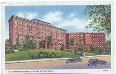 Grand Rapids Michigan Butterworth Hospital Linen Post Card 2676 | eBay - 1947