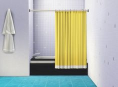 Bathtub Curtain by plasticbox at Mod The Sims via Sims 4 Updates