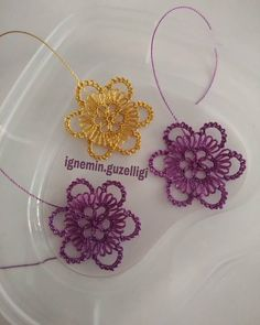 carmen velazquez perez's media content and analytics Hairpin Lace, Chicken Scratch, Needle Lace, Crochet Clothes, Crochet Flowers, Hair Pins, Needlepoint, Jewelry Crafts, Tatting