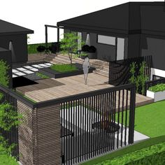 Hidden relaxing areas around the house is a good idea when the lot is flat, and surrounded by neighbours and busy streets. Outdoor Living Rooms, Outdoor Spaces, Outdoor Decor, Diy Terrasse, Privacy Screen Outdoor, Landscape Design Plans, Swimming Pools Backyard, Diy Patio, Garden Planning