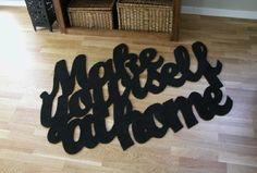 make yourself at home rug