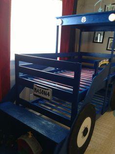 Kid Beds, Bunk Beds, Monster Truck Bedroom, Ikea Bed, Ikea Hackers, John Deere Tractors, Beds Online, Boy Room, Cool Furniture