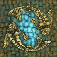 Would make a great plaque for a fountain or pool. Or to bring water into the kitchen.... Aqua, Turquoise, Copper Patina, Wheat, Brown