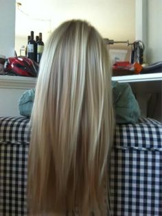 Blonde with Lowlights. i love how natural this is, as oppose to platinum blonde.