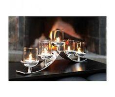 SWING / 5-flammig Teelichthalter, versilbert