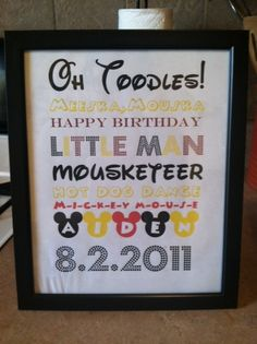Mickey Mouse Clubhouse ##Ordered this off Etsy- LOVED it!! It was such a great detail for my son's first bday!!