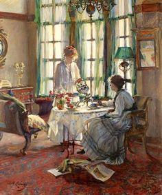 A Helensburgh breakfast | Annie Rose Laing  UnitedKingdom, 1869-1946 Medium: Painting - oil on canvas