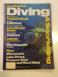 """scubapro diving and snorkeling: winter 1986 """"vintage"""" scuba dive #magazine from $19.95"""