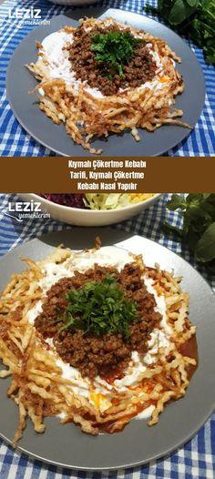 Chopping Kebab Recipe How to Make Chopping Kebab Recipe – Harika Pratik Tarifler Colored Hair Tips, Kebab Recipes, Kebabs, Homemade Beauty Products, Cooking Tips, Pasta, Good Food, Health Fitness, Food And Drink