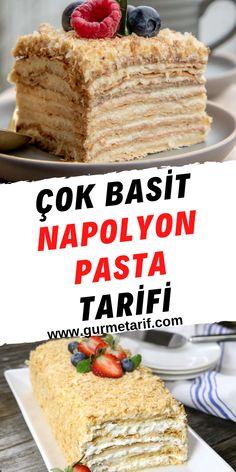 Bugün Ruslara özel kolay bir pasta tarifi ile sizinleyiz. Bugün vereceğimiz, milföyle hazırlanan napolyon pasta tarifi ile hiç uğraşmadan kolayca pasta yapabileceksiniz. Lezzeti için zaten hiç bir şey söylemeye gerek yok. Ara katlar için hazırlayacağımız kremanın lezzeti üzerine lezzet tanımam diyebilirim. #pastalar #kolaypastatarifi #napolyonpasta Good Food, Yummy Food, Turkish Recipes, Food Preparation, Food Art, Ham, Cookie Recipes, Food And Drink, Cooking