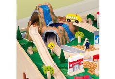 Ensemble train et table Waterfall Mountain : des jouets en bois pour votre enfant