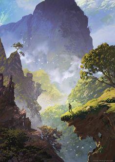 ArtStation – Uncharted Book Cover, Sylvain Sarrailh – Art Drawing Tips Fantasy Art Landscapes, Fantasy Landscape, Landscape Art, Beautiful Landscapes, Landscape Paintings, Landscape Concept, Landscape Sketch, Beautiful Drawings, Environment Concept