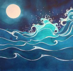 Find the desired and make your own gallery using pin. Drawn wave illustration - pin to your gallery. Explore what was found for the drawn wave illustration Watercolor Art, Art Painting, Wave Art, Painting, Wave Drawing, Art, Surf Art, Beach Art, Ocean Art