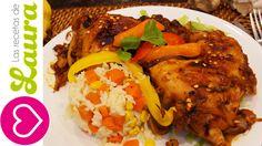 Pollo en Salsa Barbecue-Jengibre♥Recetas Saludables♥Pollo al jengibre♥Gi...
