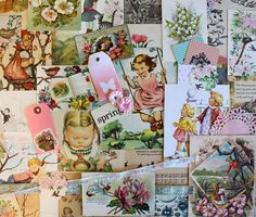 Springtime*Spring Inspiration Kit*Spring and Easter Ephemera Paper Pack by ScrappyBird on Etsy