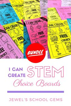 This bundle contains 5 sets of STEM Choice Boards that will be really useful in in a classroom or library Makerspace. Each STEM Choice Board comes with nine choices for a build (with the middle one being a FREE CHOICE). You can use these STEM Choice Boards for morning work, group work, homework, early finisher activity, extension/enrichment work, and so much MORE. This resource can surely make STEM activities for kids in the classroom more fun. #stemchoiceboards